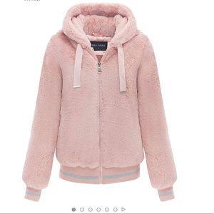 Jackets & Blazers - NWT BELLIVERA Blush Pink Faux Fur Coat